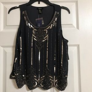 Sequined Tank Top Blouse